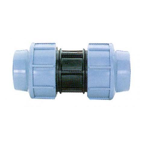 Фото муфты зажимной пластмассовой соединительной для ПЭ труб 25 мм